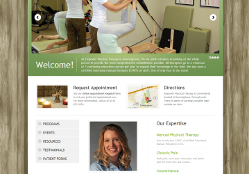 New website, mobile site, and email marketing template designed for Empower Physical Therapy.