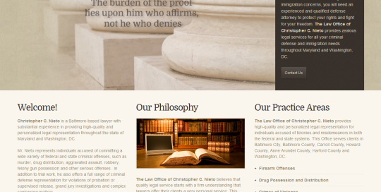 The law office of Christopher Nieto contacted ProSite Web Design to launch a new website in order to increase exposure to new clients and build credibility.