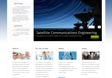 Corporate website redesign for Vaxcom, a leader in satellite communications and threat management solutions.